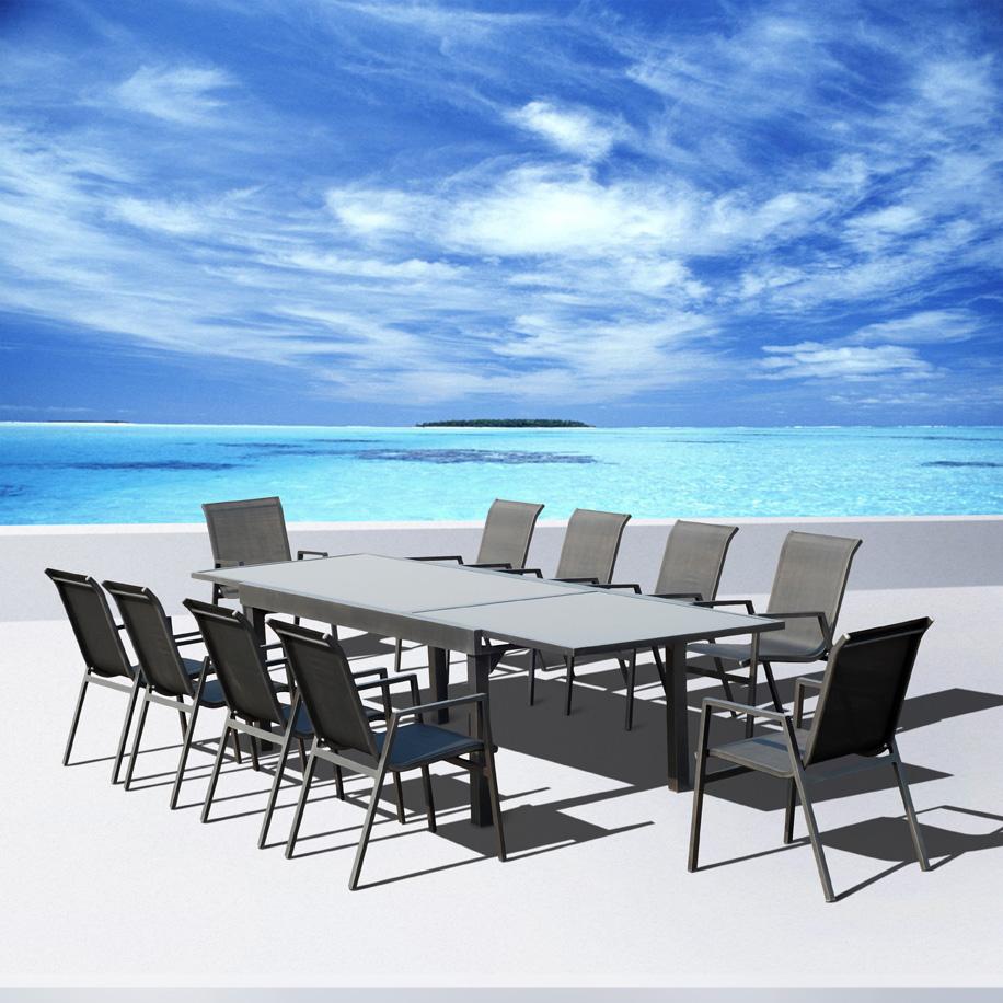 salon de jardin aluminium vegas. Black Bedroom Furniture Sets. Home Design Ideas