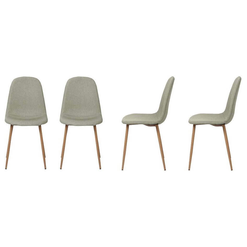 Chaise design scandinave Louvres (Lot de 4 chaises)