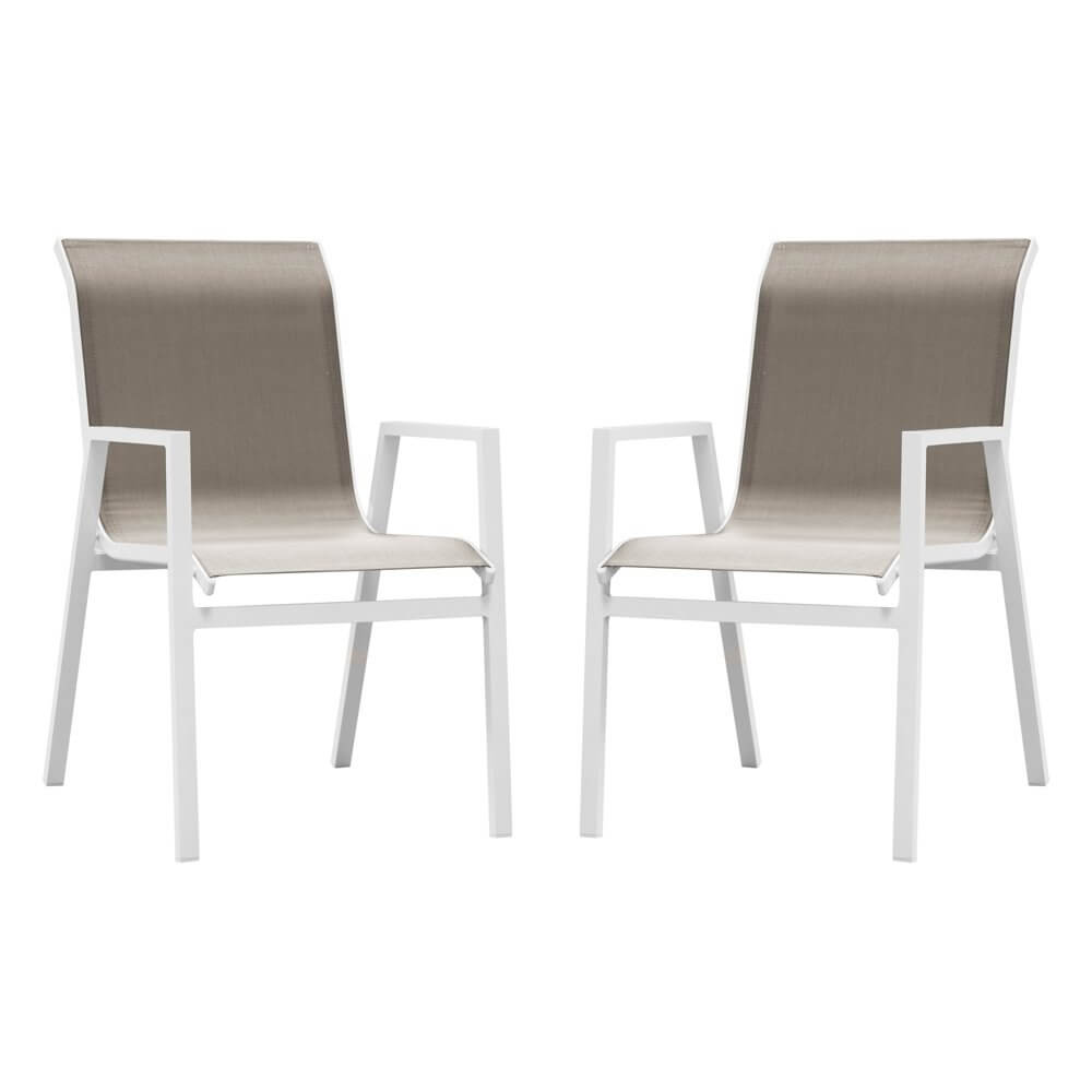 Chaise de jardin en aluminium Ibiza - Lot de 2