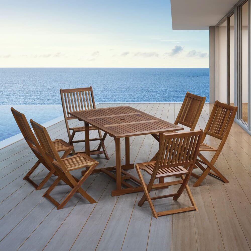 Awesome Table Salon De Jardin En Acacia Images - House Interior ...