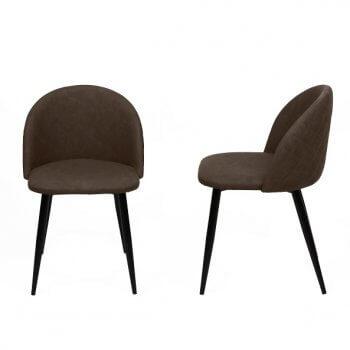 Chaise design scandinave Flore (Lot de 2 chaises)