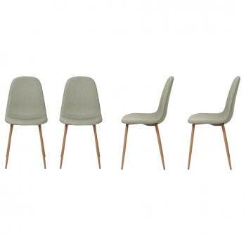 Chaise design scandinave Louvres (Lot de 4 chaises)
